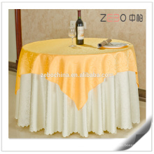 Hot Selling Gold Jacquard Fabric Polyester Linen Elegant Wedding Tablecloths
