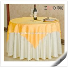 Hot vendendo ouro jacquard tecido poliéster linho elegante toalhas de mesa de casamento