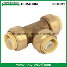 OEM& ODM Quality Brass Forged Push Fit Equal Tee (IC-1019)