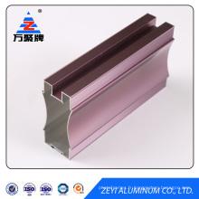 porte de placard coulissante en aluminium coloré
