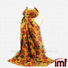 Écharpe pour écharpe en laine de fleur Sun Sun