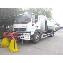 Fahrzeugleitplankenreinigung mit multifunktionaler Staubunterdrückung