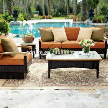 2014 antike Design Luxus Rattan Pool Sofa Möbel