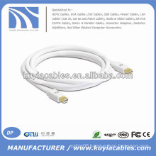 White Mini DP to Mini DP Cable for Macbook