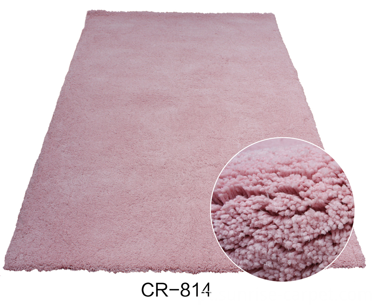 Microfiber Shaggy with pink Color rug