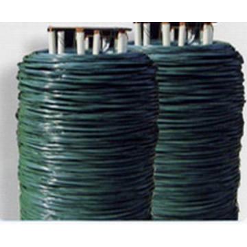 Alambre de lazo revestido del PVC / alambre revestido plástico del lazo de la torcedura