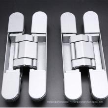 Lisse main droite et main gauche applicable en alliage de zinc charnière dissimulée réglable en trois directions