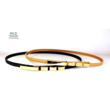 PU Fashion Stud/Skinny Belt for Lady (KY5367-1)
