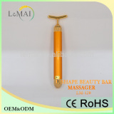 Beauty Equipment Anti Aging Vibrating Massager 24K Golden Bar