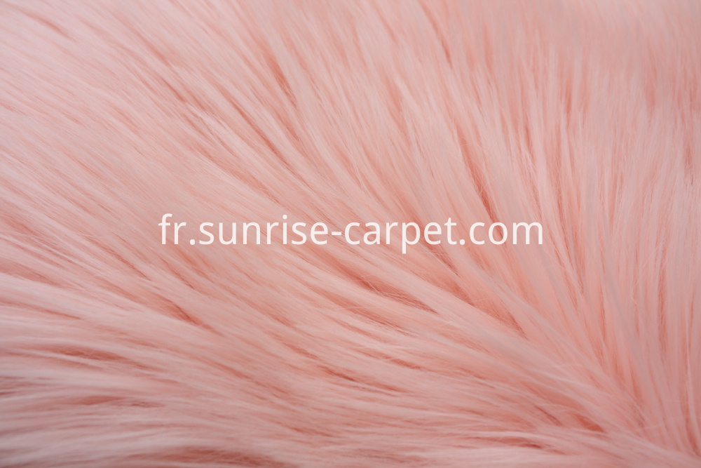 Imitation Fur Rug with Pink color