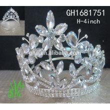 2015 diamante bebé barato princesa corona o tiara pop miss princesa corona