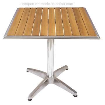 Leisure Outdoor Teak Wood Table with Aluminum Base (SP-AT332)