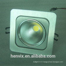 110v> 80ra réglable rectangulaire encastré led downlight