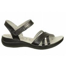 Sandalias de estilo casual de cuero con relieve en clima cálido