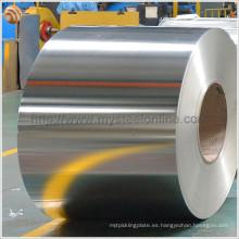 EN10202 Bobina de hojalata electrolítica de primera calidad MR 2.8 / 2.8 Estañado de acabado brillante T4 CA para producción de latas de alimentos