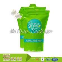 Reusable Customized Plastic BPA Free Squeeze Liquid Breast Milk Packaging Baby Food Storage Bags With Spout