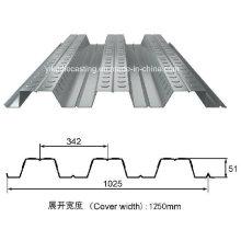 Feuille galvanisée de Decking de plancher en acier (YX51-342-1025)