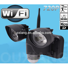 Luz LED del sensor de movimiento del precio de fábrica con mini wifi ocultado de la cámara