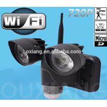 Preço de fábrica sensor de movimento de luz LED com mini câmera escondida wifi