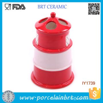 Lighthouse Style Ceramic Toothbrush Holder Accesorios de baño modernos