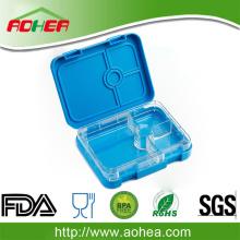 मजबूत टिकाऊ कंटेनर 4 डिब्बे माइक्रोवेव सुरक्षित खाद्य भंडारण कंटेनर माइक्रोवेव उपयोग के लंच बॉक्स में स्पष्ट ढक्कन के साथ