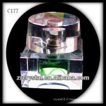 Belle bouteille de parfum en cristal C177