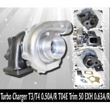 T04E T3 / T4 Турбокомпрессор Корпус компрессора: A / R.50, корпус турбины: A / R.84, Trim (выхлоп): 161.90