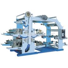 Máquina de impresión de etiquetas flexográficas de 4 colores para bolsas de plástico