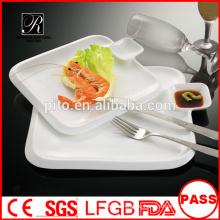 Fabrik Preis Porzellan Abendessen Platte quadratischen Seitenplatte