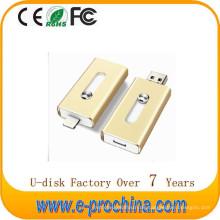 Bester Verkauf Gold Metall OTG USB 3.0 Flash Drive für iPhone