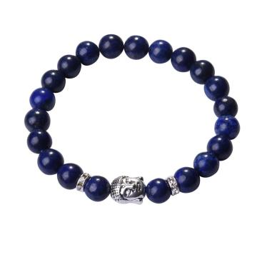 Lapis Lazuli 8MM Gemstone Buddhism Beads pulseras de oración