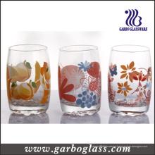 9oz Máquina de soplado de vidrio de impresión Vaso de agua