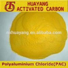 Polvo de aluminio de poliuretano amarillo de alto grado pac 30%