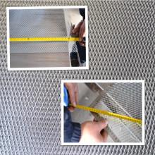 Aluminum flattened metal mesh