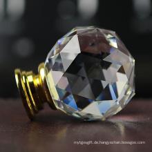 Triangle Cut Faces Transparente klare weiße 40mm Crystal Möbelgriffe