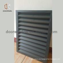 Perfiles de aluminio para persianas de lluvia para contraventanas de puertas batientes.