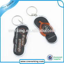 Slipper Shape Acrylic Keychain for Tourists for Promotion