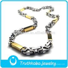 ТКБ-JN0046 Выдвиженческое модное два тон металла с формой прямоугольник золотое ожерелье из нержавеющей стали