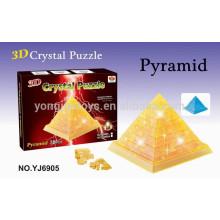 Prety regalo rompecabezas 3D rompecabezas de pirámide de cristal de bricolaje
