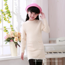 hot selling computer knitted children wool sweater with pockets