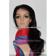 Qingdao fabricant Full dentelle 100% vierge indienne perruque de cheveux humains
