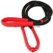Double corde de tresse de 22mm, corde cinétique de treuil de rétablissement, corde de treuil en nylon