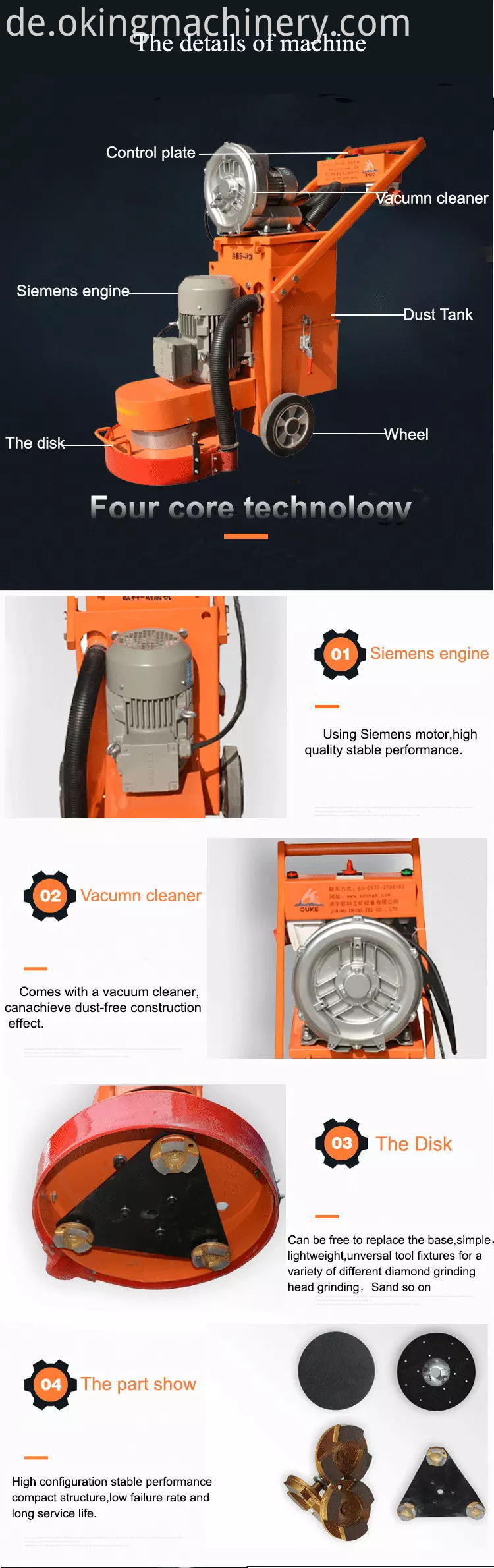 Concrete Fioor Grinder Grinding Machine
