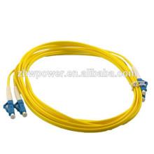 Câble de fibre optique LC, cordon de raccordement fibre optique sm dx, cavalier à fibres optiques fabriqué en Chine