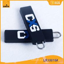 Kundenspezifisches Logo mit Gummi-Zipper Abzieher LR10016