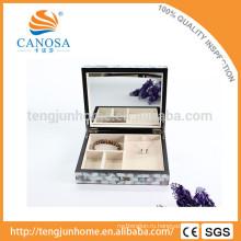 Оптовый черный перламутровый инкрустированный ящик для драгоценностей