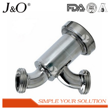 Stainless Steel Sanitary Threaded-Nut Y-Type Filter Strainer