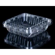 Caja de plastico con arándanos