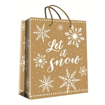 CHRISTMAS SERIES KRAFT GIFTBAG31-0