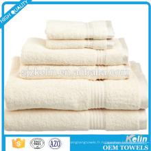 nouveau style 6pcs éponge serviette de bain ensemble pour le marché américain